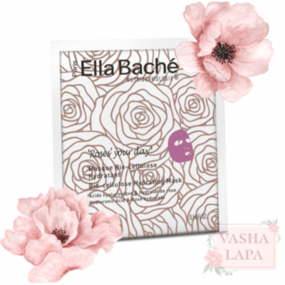 Біо-целюлозна рожева маска Ella Bache Roses Your Day Bio-Cellulose Hydrating Mask
