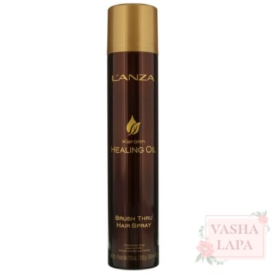 Лак для волосся і брашінга L'anza Keratin Healing Oil Brush Thru Hair Spray