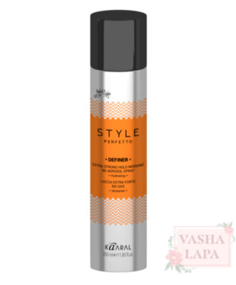 Лак без газа экстра-сильной фиксации Kaaral Style Perfetto Definer Extra Strong Hold Working No Aerosol Spray